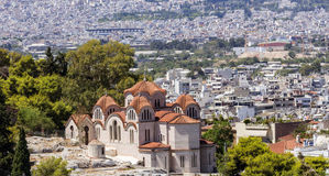 Church of Agia Marina. In Thissio, Athens, Greece Stock Photos