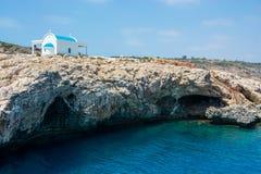 Church Agioi Anargyroi at Cape Greco. Royalty Free Stock Photos