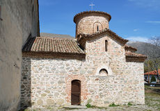 Church of Agios Germanos at Agios Germanos village in Prespes, G Royalty Free Stock Photography