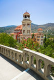 Church Agios Nectarios on island Aegina, Greece Royalty Free Stock Images