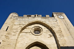 Church in Aigues-Mortes Royalty Free Stock Photos
