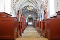 Church aisle. The aisle of an old church royalty free stock photo