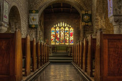 Church aisle Royalty Free Stock Images