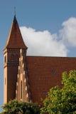 Church in Akirkeby, Bornholm, Denmark Stock Photography