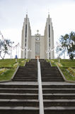 Church in Akureyri, Iceland Royalty Free Stock Images