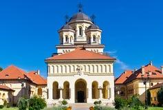Church in Alba Iulia, Romania stock images