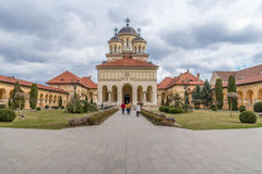 Church in Alba Iulia, Romania Royalty Free Stock Image