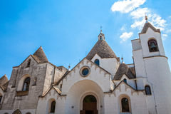 Church in Alberobello, Trulli Italy Village Stock Images