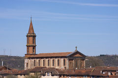 Church of Albi. View on a church of Albi in France Stock Photography
