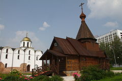 Church of Alexander Nevsky and Annunciation Church. Vitebsk Royalty Free Stock Photography