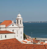 Church in Alfama district, Lisbon Stock Photos