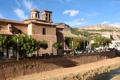 Church of Alhama de Aragon,Zaragoza province, Stock Photo