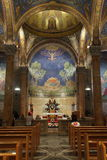 Church of All Nations Interior View with Apse. Interior view of the apse façade of the Roman Catholic Church of All Nations, also known as the Church or Royalty Free Stock Image