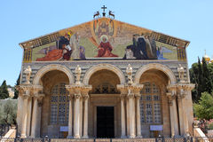 The Church of All Nations, Jerusalem. The Church of All Nations or Basilica of the Agony, is a Roman Catholic church near the Garden of Gethsemane at the Mount stock photos