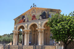 The Church of All Nations, Jerusalem. The Church of All Nations or Basilica of the Agony, is a Roman Catholic church near the Garden of Gethsemane at the Mount stock photography