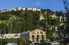 Church of All Nations on mount olives Royalty Free Stock Images