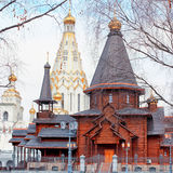 Church of All Saints and wooden Trinity Church. Minsk Stock Image