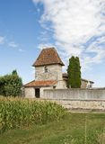 Church in Allez-Et-Caseneuve Village Stock Photo
