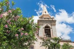 Church along Corso Umberto inTaormina at Sicilian Island Stock Images