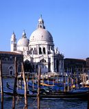 Church along Grand Canal, venice. Stock Images