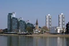 Church along the Thames Stock Photo