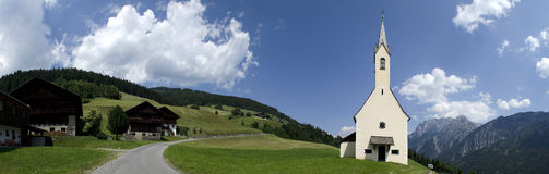 Church in the Alpes Stock Image