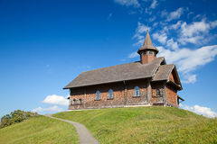 Church in alpine village Royalty Free Stock Image