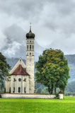 Church in Alps. St. Coloman church in Bavaria, Germany Stock Photography