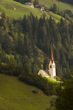 Church in Alps, Italy. Church near the Austrian border in the village of Versciaco di Sotto Untervierschach, Italy Royalty Free Stock Photography