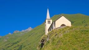 Church on alps Stock Image