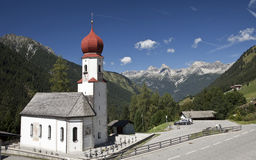 Church in the Alps Stock Images
