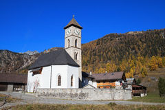 Church in Alps Royalty Free Stock Images