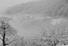 Church in Alps in winter Stock Photos