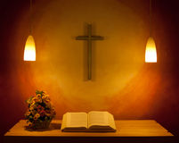 The Church Altar. The altar in the chapel Stock Photography