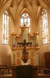 Church Altar. Altar in Church in Muensingen, Germany Stock Image