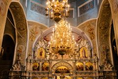 Church altar. Interior. Front view royalty free stock image