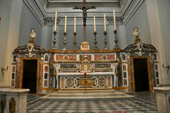 Church altar in Italy stock photography
