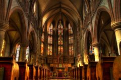 Church, Altar, Mass, Religion Stock Photo