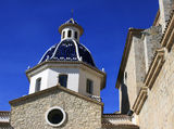 Church in Altea Royalty Free Stock Photography