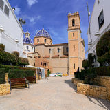 Church in Altea. The village Altea on the Costa Blanca, Alicante province,Spain Royalty Free Stock Photography