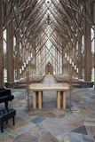 Church Alter. The insides of a wooden and glass church with alter Stock Photography