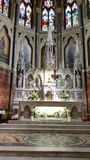 Church alter. Inside view of catholic alter Royalty Free Stock Image