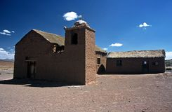 Church on Altiplano in Bolivia,Bolivia Royalty Free Stock Images