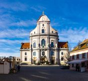 Altotting in Bavaria. Winter in Germany. Church in Altotting in Bavaria. Winter in Germany Stock Images