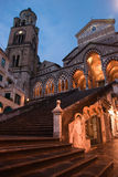 Church of Amalfi. At night Stock Images