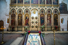 Church in Ananuri Castle Royalty Free Stock Images