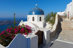 Church of Anastaseos , Imerovigli , Santorini Stock Photos