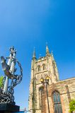 Church and anchor. Tamworth,staffordshire Stock Photos