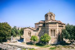 Church in the Ancient Agora of Athens, Greece Royalty Free Stock Photo