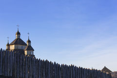 Church in the ancient fortress against the sky. History, ancient, religion Royalty Free Stock Photos